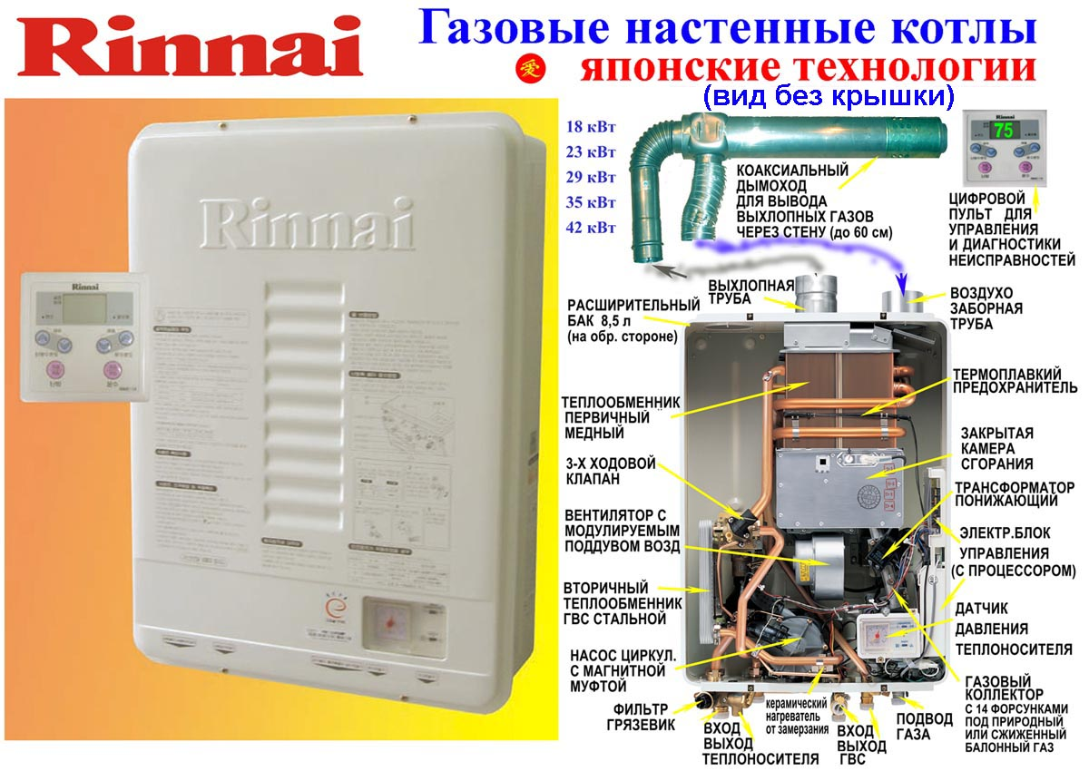 Rinnai - многофункциональная отопительная установка