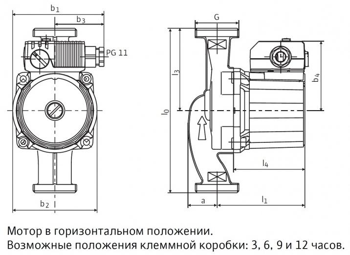 Встроенный циркуляционный насос марки WILO RS 15/6-3